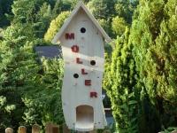 Vogelhaus Vogelvilla Modell Buchstaben