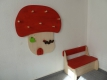 Kindergarderobe Fliegenpilz Kinderzimmer Dekoration