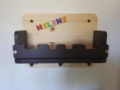 Kindergarderobe mit geschlossener Ablage Garderobe aus Holz