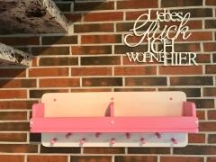 Garderobe Kindergarderobe aus Holz mit 2 Ablagen und 9 Garderobenhaken NEU
