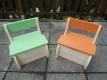 Kinderstuhl Kinderbank Kindertruhe Doppelpack für Geschwister